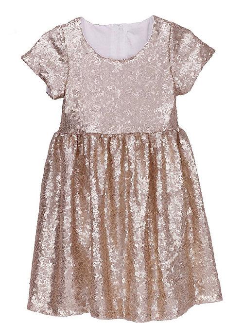 ANNA LOVES KAKI vestido shine