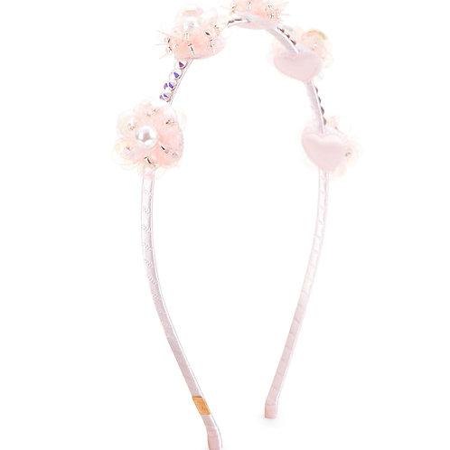 BARI LYNN tiara flores cristais