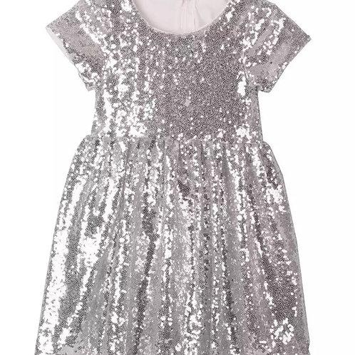 ANNA LOVES KAKI vestido shimmer
