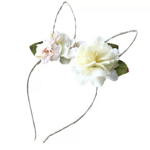 ANNA LOVES KAKI tiara bunny flower
