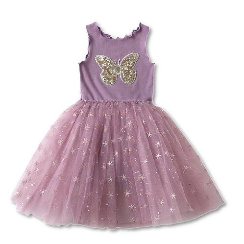 ANNA LOVES KAKI vestido tutu butterfly lilás