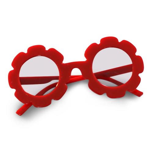 ANNA LOVES KAKI óculos de sol daisy vermelho