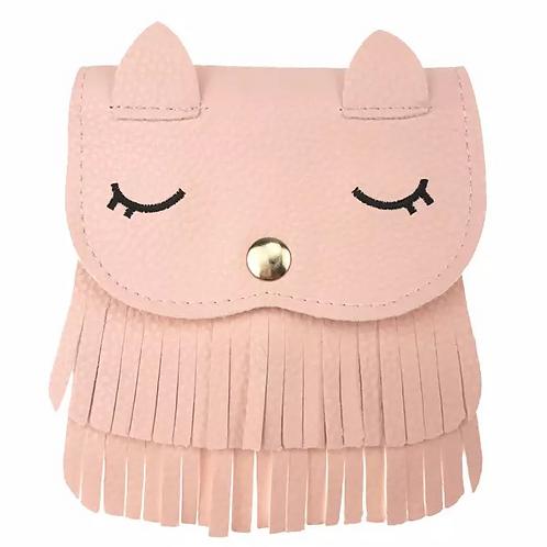 MINI DRESSING bolsa gatinha franjas rosa