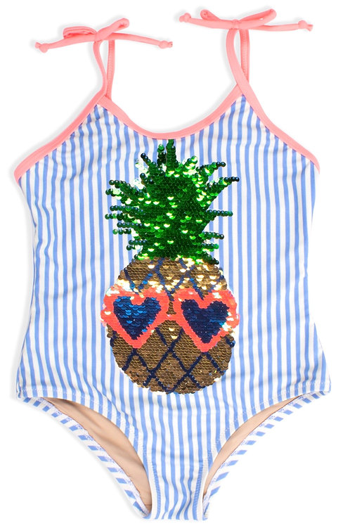 SHADE CRITTERS maiô sequin pineapple