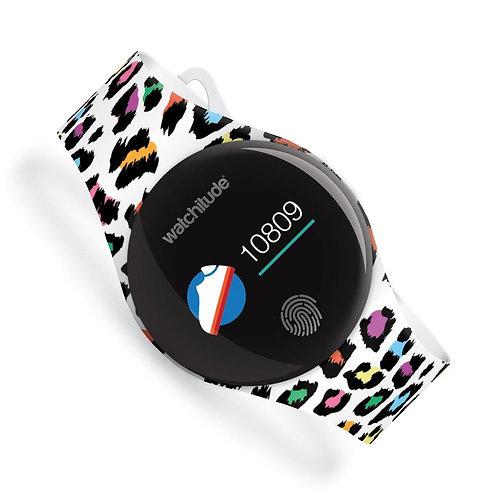 WATCHITUDE relógio smartwatch Leopard Camo