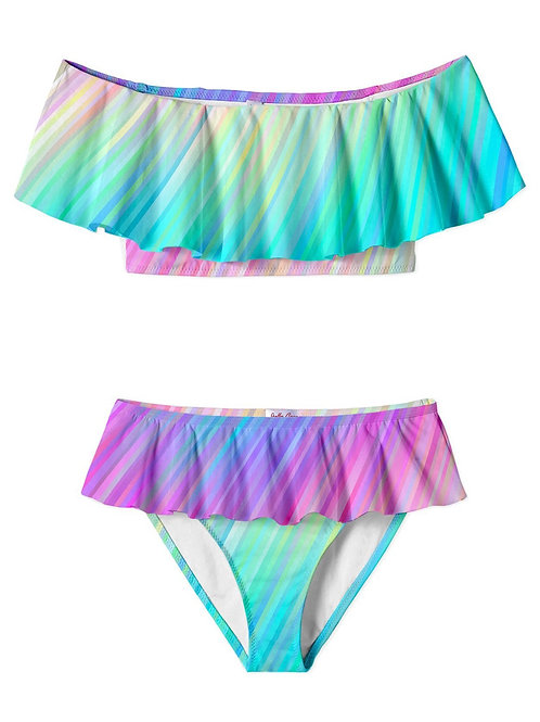 STELLA COVE bikini colorful babado