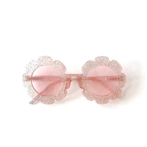 ANNA LOVES KAKI óculos de sol daisy glitter