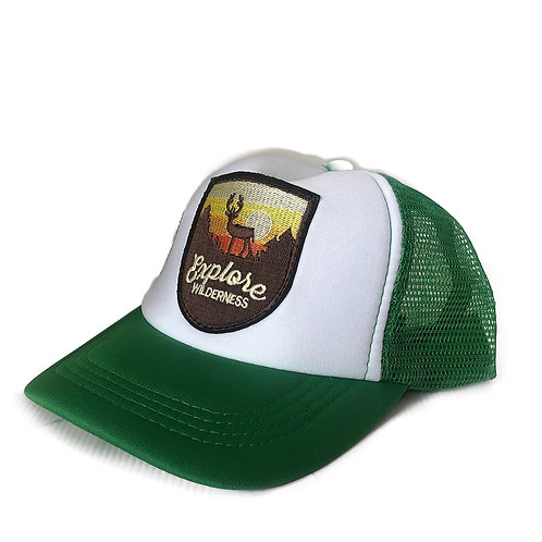 ANNA LOVES KAKI boné trucker green