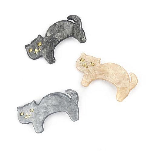 ANNA LOVES KAKI trio de fivelas gatos