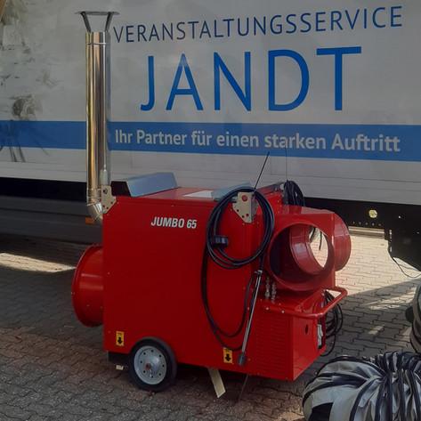 Neu: Öl-Lufterhitzer 70 kW