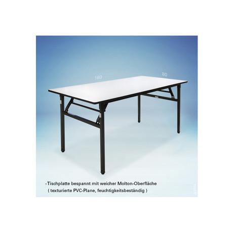 Banketttisch rechteckig 140 x 80 cm