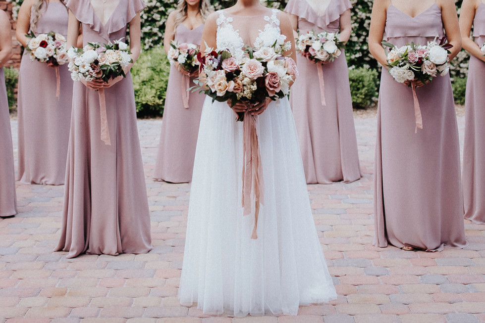 Dusty rose and blush wedding. Photo: Snapdragon Studio