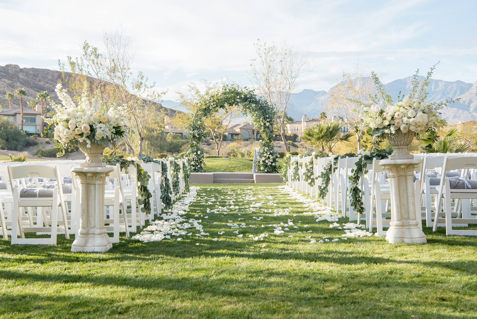 Ceremony at Red Rock Country Club. Photo: KMH Photography