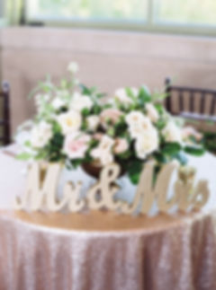 Blush Centerpiece for Sweetheart Table