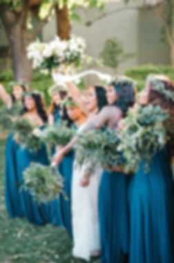 Greenery Bridesmaid's Bouquets