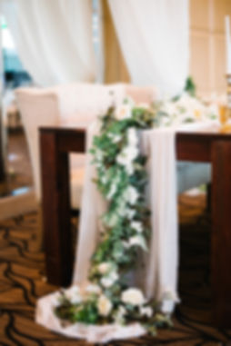 Table Garland With Flowers