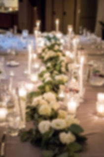 Eucalyptus Garland With Flowers ad Candles