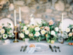 Organic Wedding Centeriece in Shades of White, Green and Peach