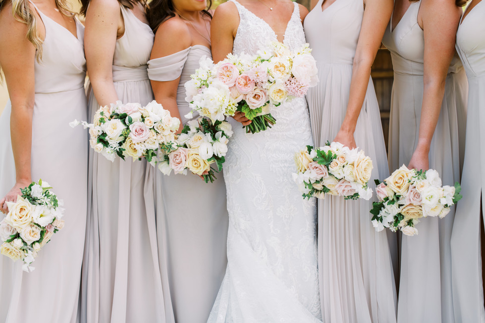 Blush and white wedding at Cascata. Photo: Gaby Jeter