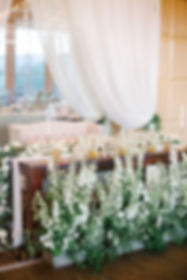 White Wedding Flowers for Sweetheart Table