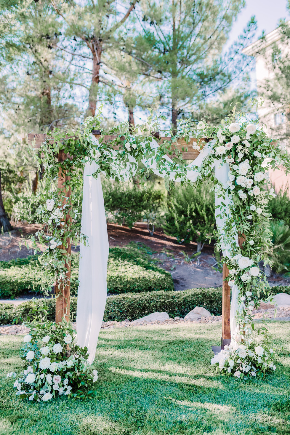 Rustic Ceremony Arch. Photo: Kristen Joy