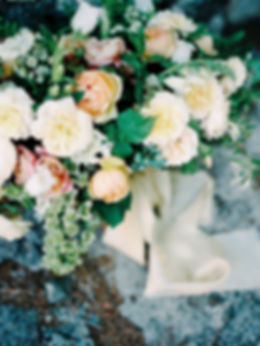 Peach, Green and White Wedding Flowers