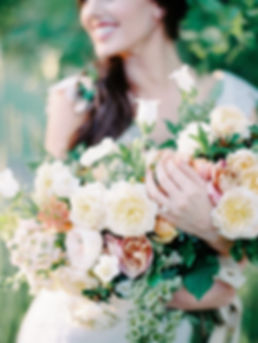 Spring Bridal Bouquet with Garden Roses