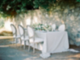 Grey, White and Peach Wedding Table