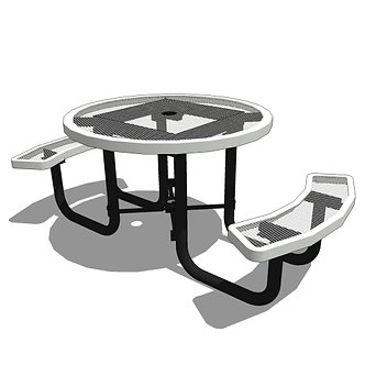 """46"""" Round Portable Table - 2 Seat"""
