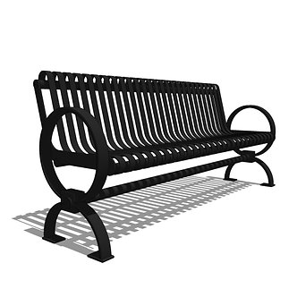 Strapped Metal Bench