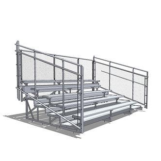 5 Row Aluminum Bleacher System
