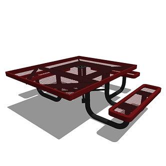 46 Children's Square Portable Picnic Table - 3 Seat