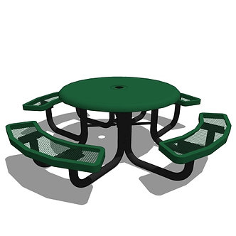 46 Children's Round Solid Top Portable Table
