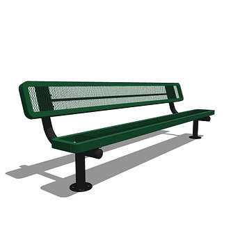 8' Children's Bench with Back