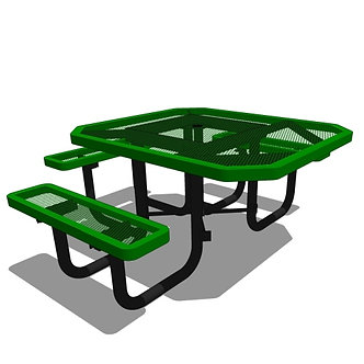 46 Octagonal Portable Table - 3 Seat