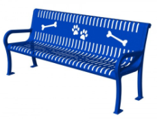 Strap Metal Puppy Paws Dog Bench