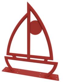 Sail Boat Bike Rack