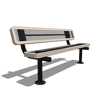 6' Bench with Back