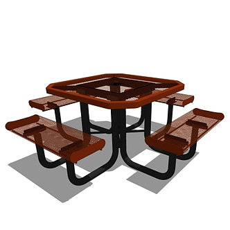 46 Rolled Edges Octagon Portable Table