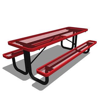 8' Portable Rectangular Picnic Table