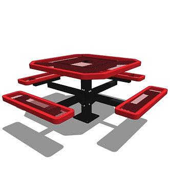 46 Octagon Pedestal Table