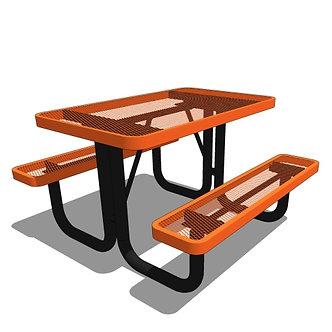 4' Portable Rectangular Picnic Table