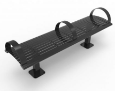 R Steel Series Backless Bench