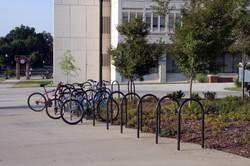 _Bike Rack_ A bike rack on a college campus