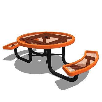 46 Children's Round Portable Table - 2 Seat