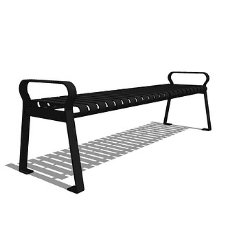Capital Series - CS3 - 6' Strap Metal Backless Bench