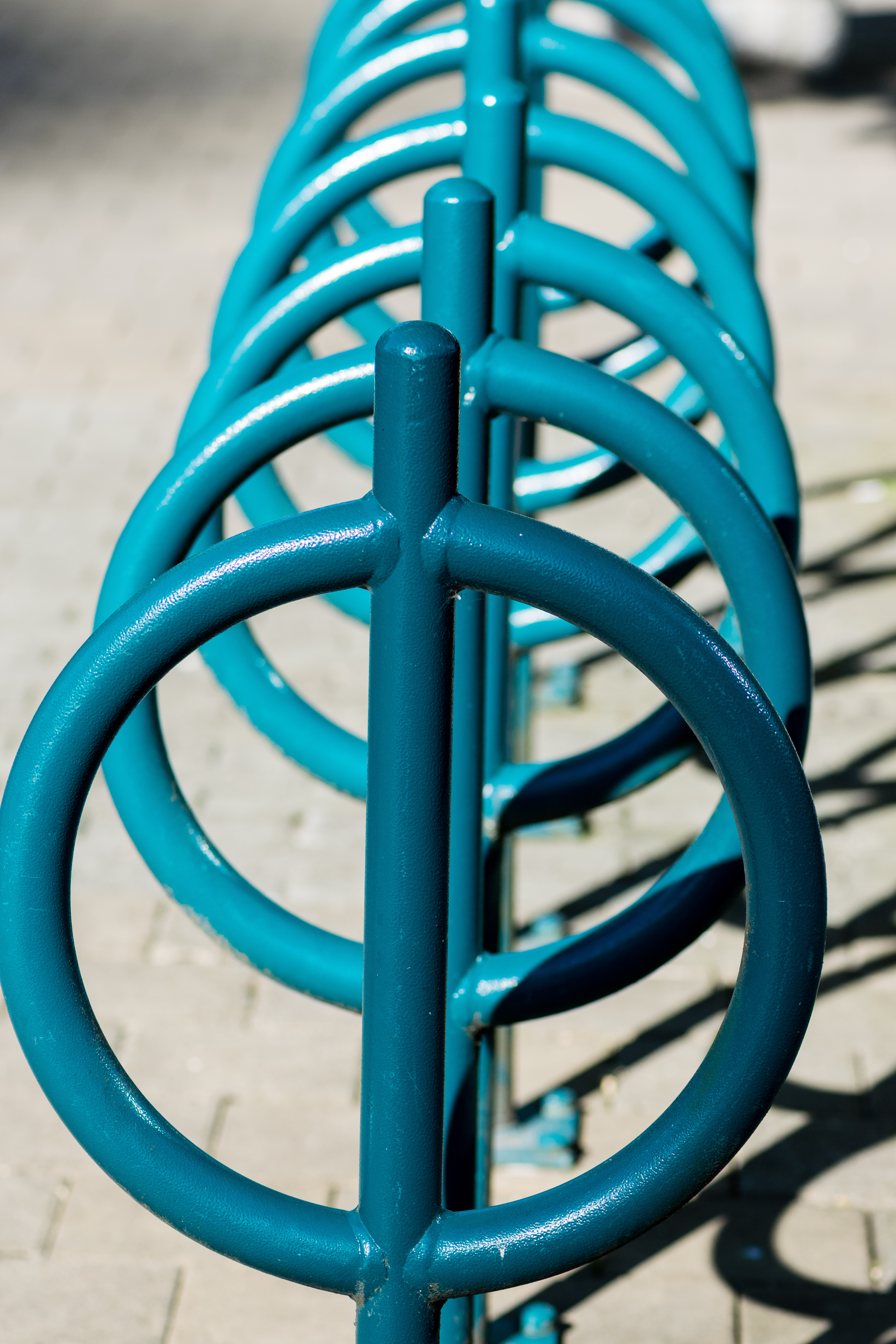Blue Bike Rack