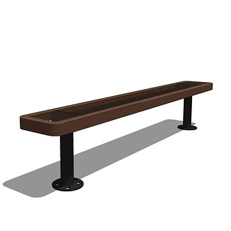 4' Player's Bench without Back