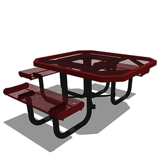 46 Rolled Edges Octagon Portable Table - 3 seat