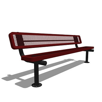 8' Bench with Back